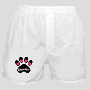 Personalizable Paw Print Boxer Shorts