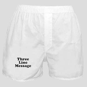 Big Three Line Message Boxer Shorts