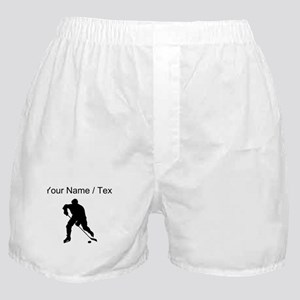 Custom Hockey Player Silhouette Boxer Shorts