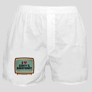 Retro I Heart Grey's Anatomy Boxer Shorts