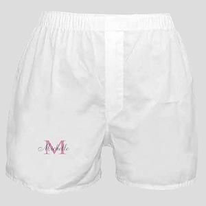 Personalized pink monogram Boxer Shorts