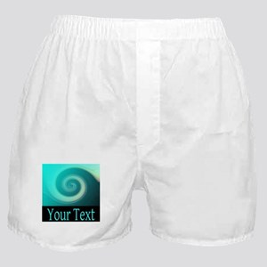 Personalizable Teal Wave Boxer Shorts