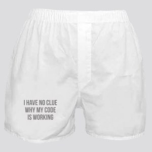 I Have No Clue Why My Code Is Working Boxer Shorts