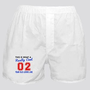 Really Cool 02 Birthday Designs Boxer Shorts