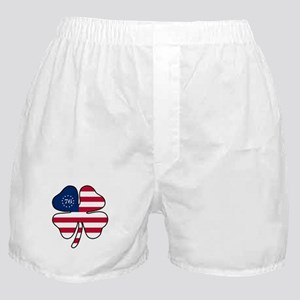 US Flag Clover Boxer Shorts