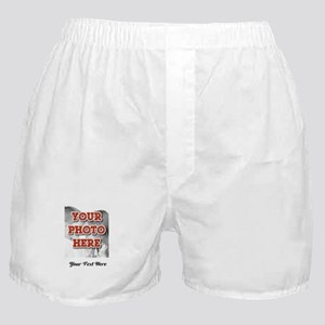 CUSTOM 8x10 Photo and Text Boxer Shorts