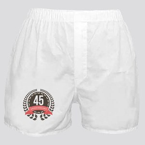 45Years Anniversary Laurel Badge Boxer Shorts