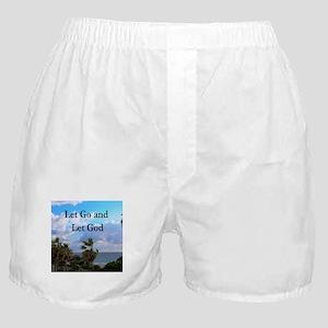LET GO AND LET GOD Boxer Shorts