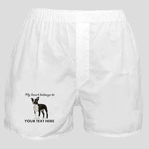 Personalized Boston Terrier Boxer Shorts