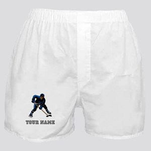 Hockey Player (Custom) Boxer Shorts