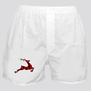 Black and red plaid deer Boxer Shorts