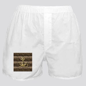 shabby chic vintage anchor Boxer Shorts