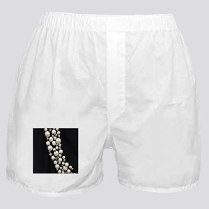 black and white pearl Boxer Shorts