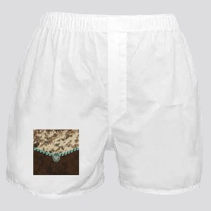cow hide western leather Boxer Shorts