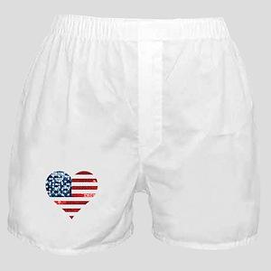 usa flag heart Boxer Shorts