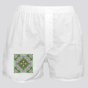 green diamond bling Boxer Shorts