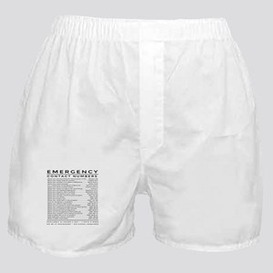 bible emergency number Boxer Shorts