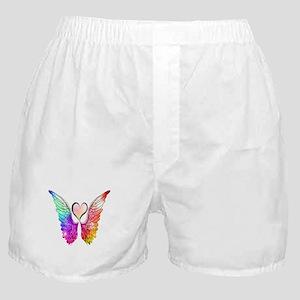 Angel Wings Heart Boxer Shorts