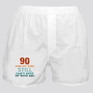 90th Birthday For Parents Boxer Shorts