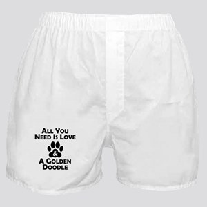 Love And A Goldendoodle Boxer Shorts