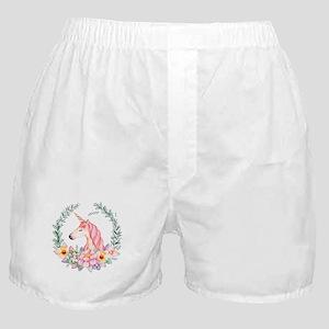 Pink Unicorn Boxer Shorts