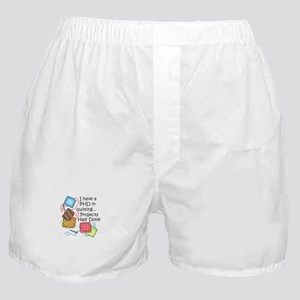 PHD IN QUILTING Boxer Shorts