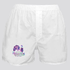 Cute Personalized Unicorn Boxer Shorts