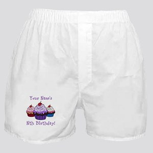 CUSTOM Your Names Nth Birthday! Cupcakes Boxer Sho