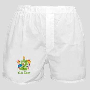 CUSTOM 2 Years Old Green Boxer Shorts