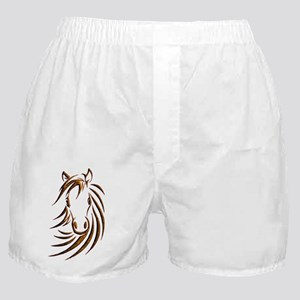 Brown Horse Head Boxer Shorts