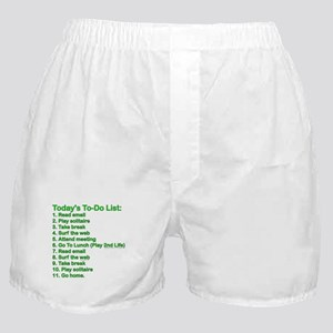 To-Do List: Boxer Shorts