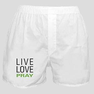 Live Love Pray Boxer Shorts