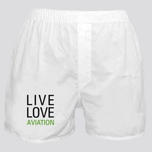Live Love Aviation Boxer Shorts