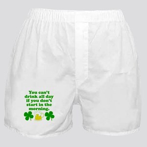 Start In the Morning Boxer Shorts