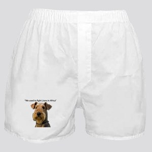 Airedales used to Fight Lions in Afri Boxer Shorts