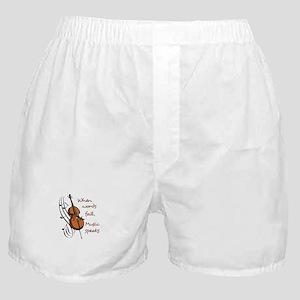 WHEN WORDS FAIL Boxer Shorts