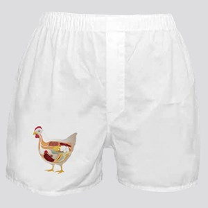 chicken pie guts Boxer Shorts