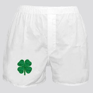 glitter shamrock Boxer Shorts