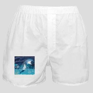Moon Gazing Hare Boxer Shorts