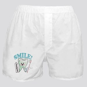 Smile Dentist Dental Hygiene Boxer Shorts