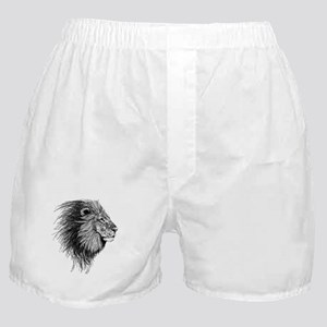 Lion (Black and White) Boxer Shorts