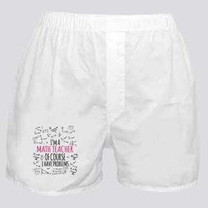 Math Teacher With Problems Boxer Shorts