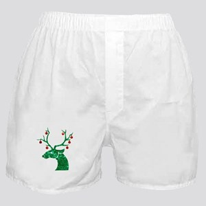 sequin christmas reindeer Boxer Shorts