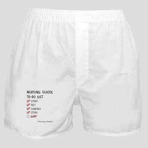 Nursing Student To-Do List Boxer Shorts