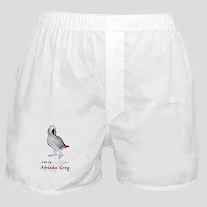 i love african greys Boxer Shorts