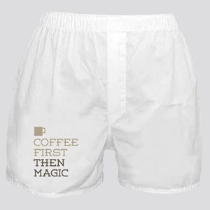 Coffee Then Magic Boxer Shorts