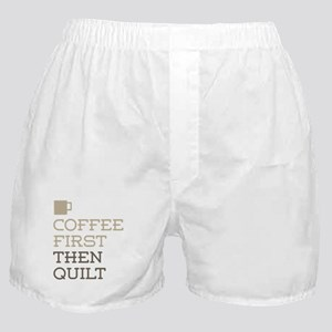 Coffee Then Quilt Boxer Shorts