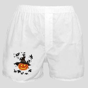 Grinning Pumpkin Boxer Shorts
