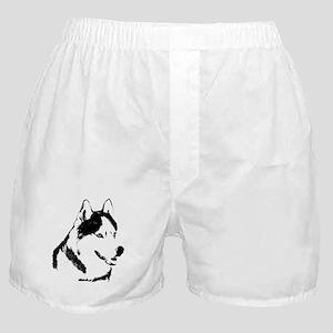 Husky Malamute Sled Dog Art Boxer Shorts