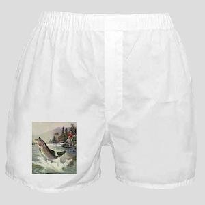 Vintage Fishing, Rainbow Trout Boxer Shorts